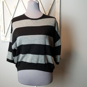 Chesley cropped stripe sweater Small